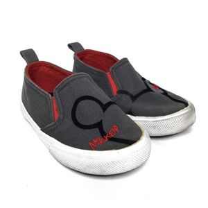 Disney Mickey Kids Canvas Slip on Shoes Size 6